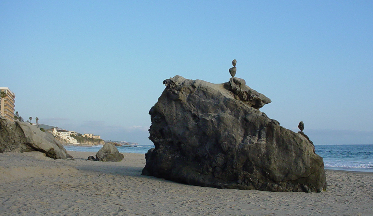Rock Balancing in California
