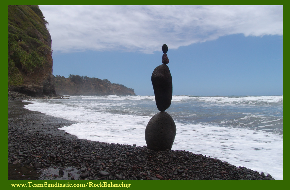 Rock Balancing in Hawaii
