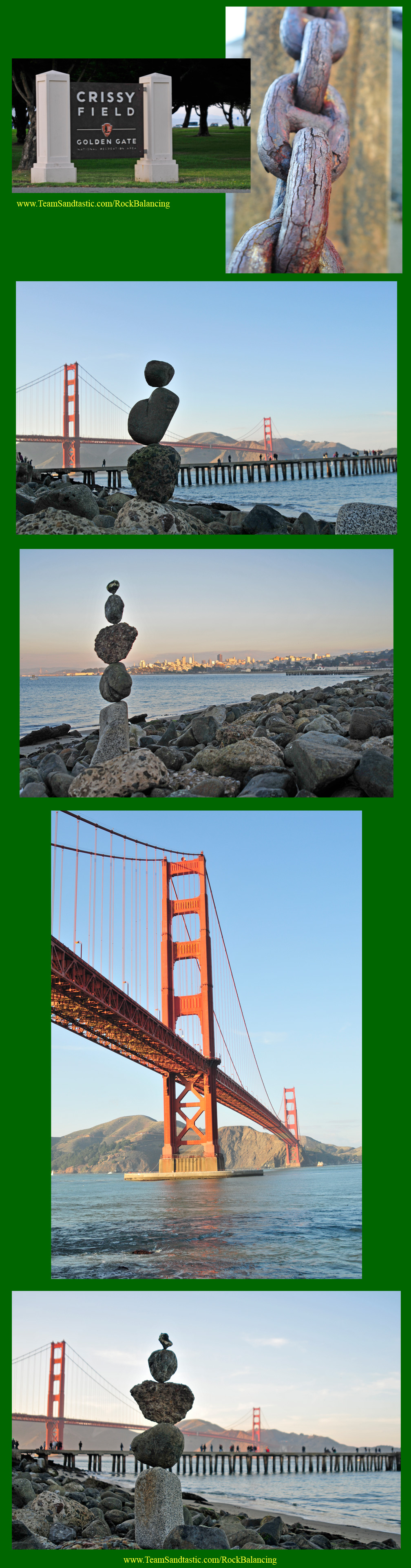 Rock Balancing at Golden Gate Bridge