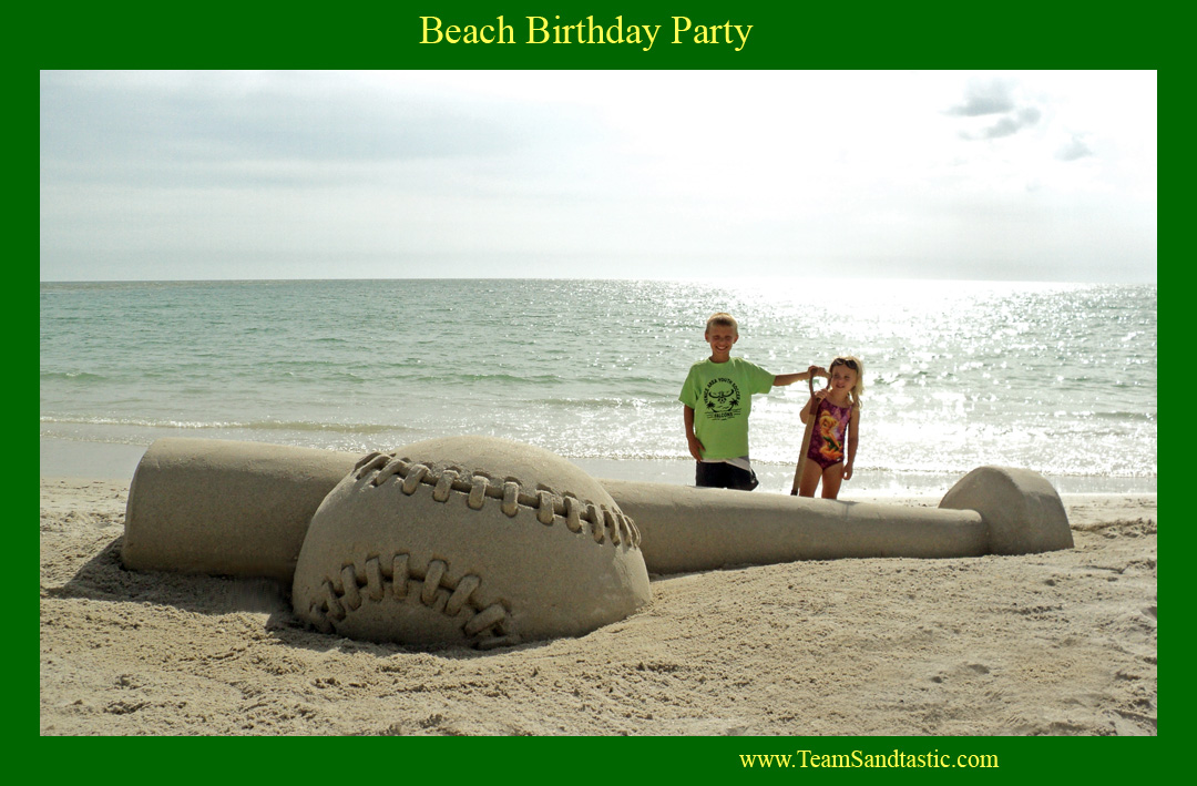 Birthday Party Sand Sculptures