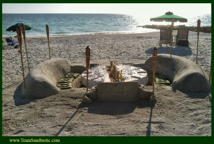 Dinner Tables in Sand