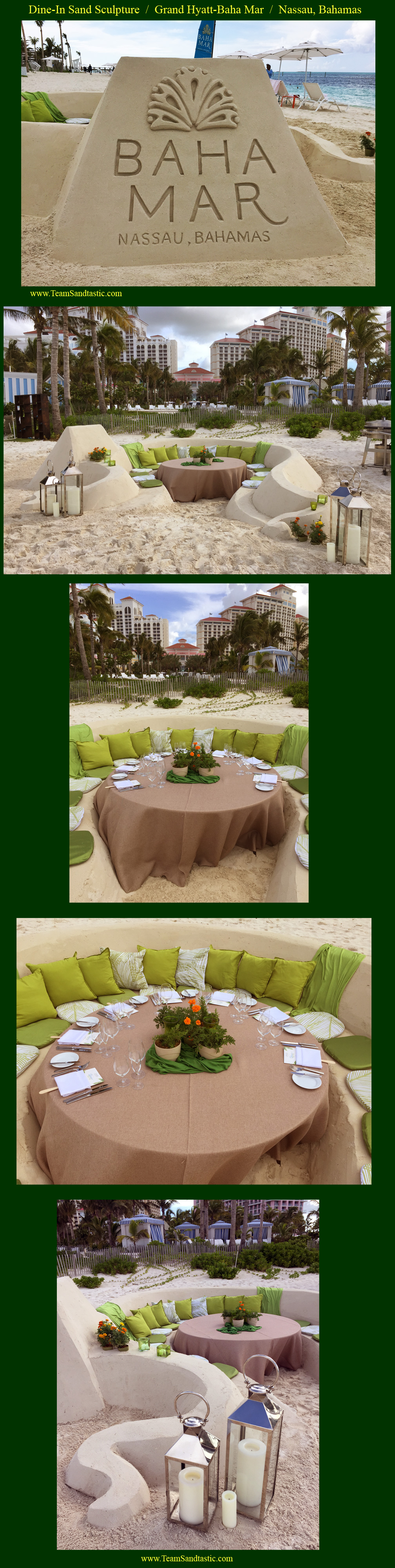 Guests Dining in the Sand