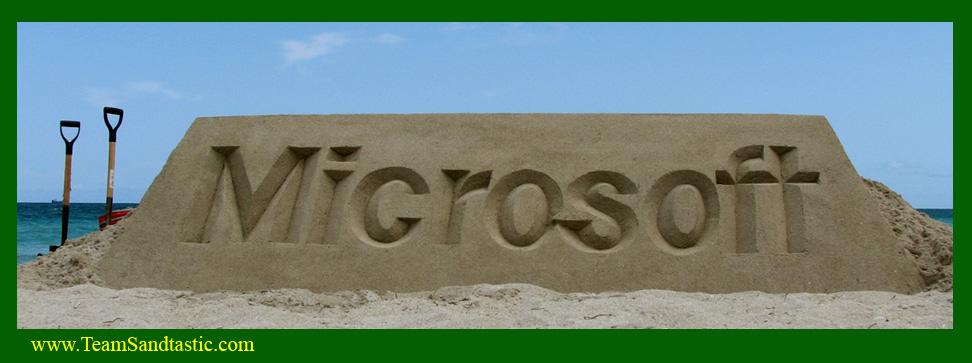 Team Sandtastic Sand Sculptures Corporate Logos