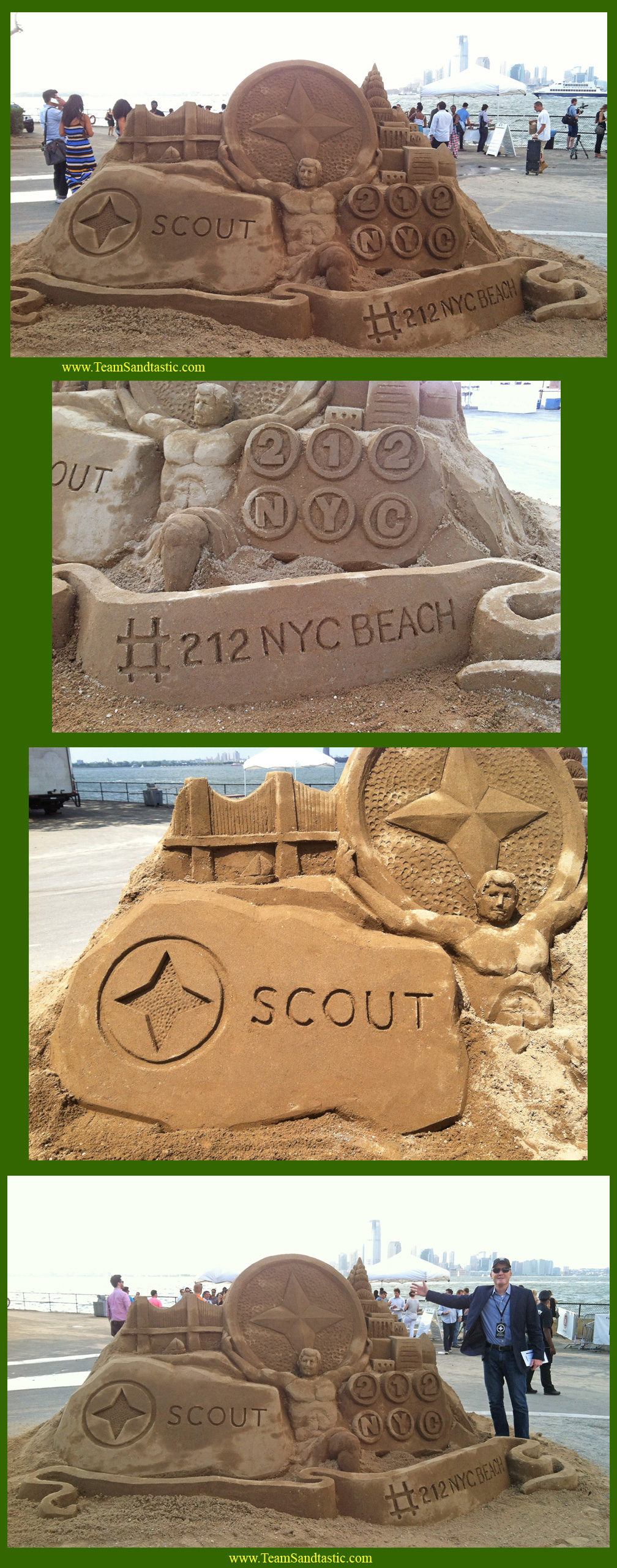 212 NYC Scout Sand Scultpure on Governors Island