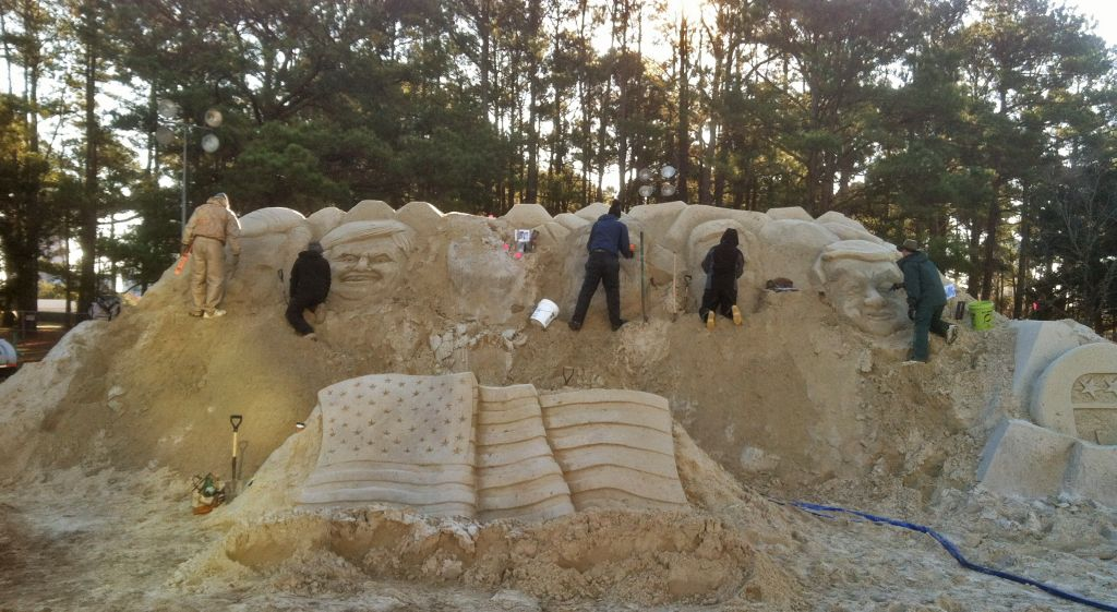Republican Debate Sand Sculpture