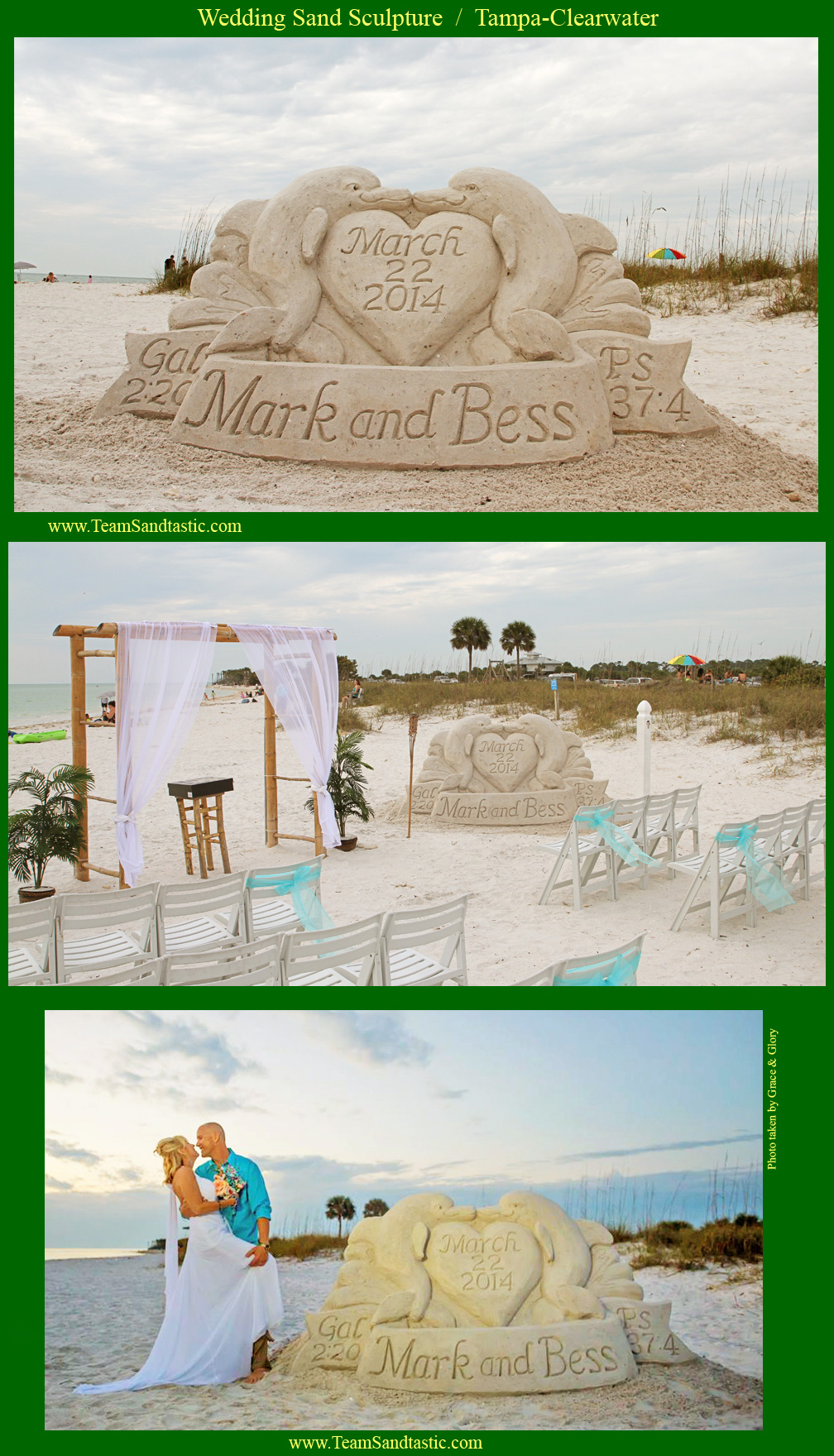 Wedding & Proposal Sand Sculpture Dolphin