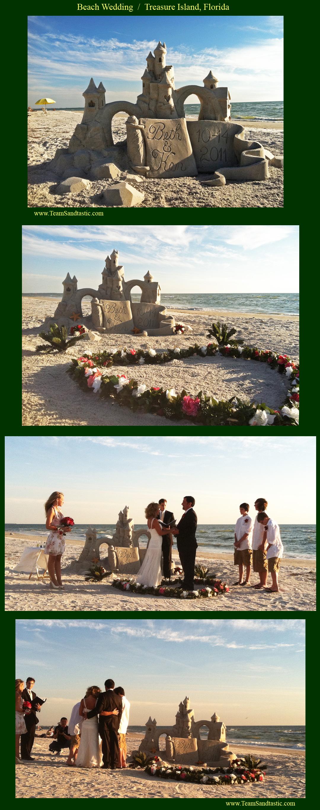 wedding sand sculptures
